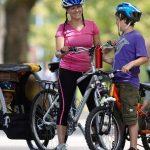 remorque vélo avec bébé
